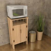 カラーボックスをアレンジした炊飯器・レンジ台の作り方