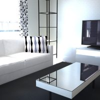 モノクロ部屋の差し色イメージ8パターン