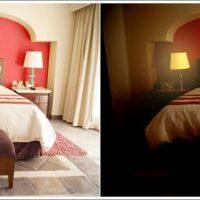 寝室の色を変更したイメージをシミュレーション