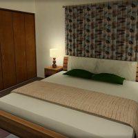 6畳寝室にダブルベッドをレイアウト