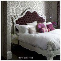 エレガント装飾がきれいな寝室