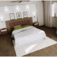 統一感のあるナチュラルな寝室