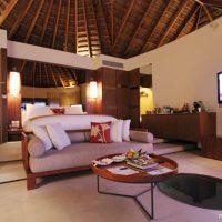 モルディブのホテルのインテリアコーディネート