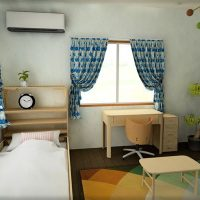 6畳子供部屋をファブリックでアレンジしやすい北欧風に