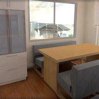 カリモク家具っぽいダイニングのイメージ