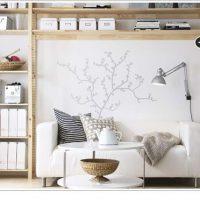 台湾IKEAのホワイトウッドカラーのリビング