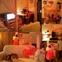 きらきらピンクでフェミニンなお部屋