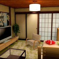 6畳1K和室に北欧スタイルをコーディネートした部屋
