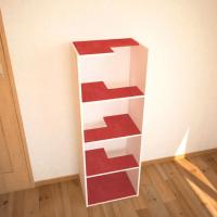カラーボックスをアレンジして作るキャットタワー