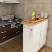 カラーボックスをアレンジしたキッチンカウンターの作り方
