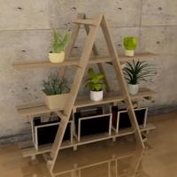 すのこ三角シェルフ棚の作り方