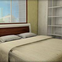7畳寝室に壁面収納を設置
