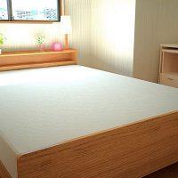 5畳寝室にダブルベッドをレイアウト