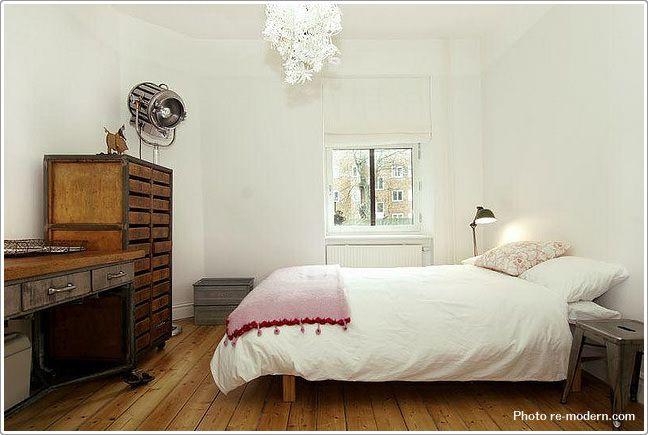 素材感のあるナチュラルな寝室 - 寝室のインテリアコーディネート