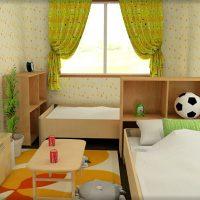 6畳子供部屋を兄弟二人で使うために間仕切り活用したレイアウト例