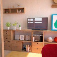 ロフトベッドを活用した無印家具で作る5畳の子供部屋事例