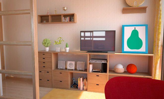 ロフトベッドを活用した無印家具で作る5畳の子供部屋事例 子供部屋の
