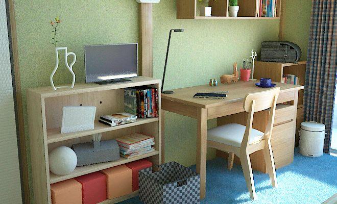 小中学生向けに6畳和室を子供部屋としてコーディネート例part1 子供
