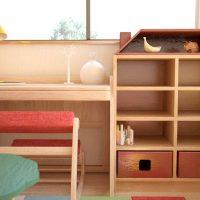 幼児〜小学校向けに北欧風家具でコーディネートしたかわいい子供部屋事例