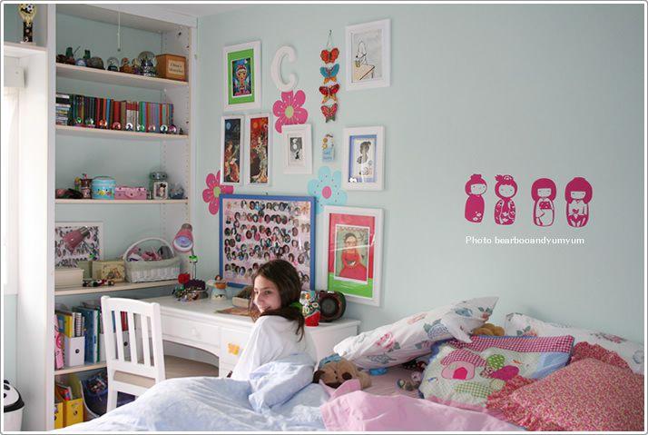 水色ピンクがかわいい女の子の部屋のコーディネート 子供部屋の