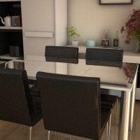 ガラスダイニングテーブルとチェア11種の組合せ