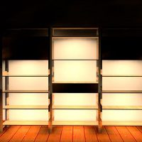 棚下は絶好の照明配置ポイント