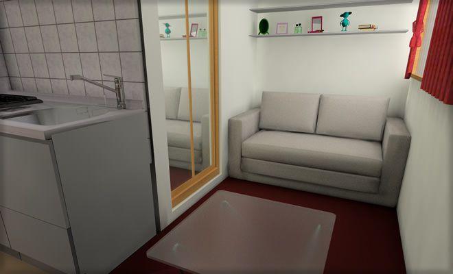 狭い 部屋 の インテリア