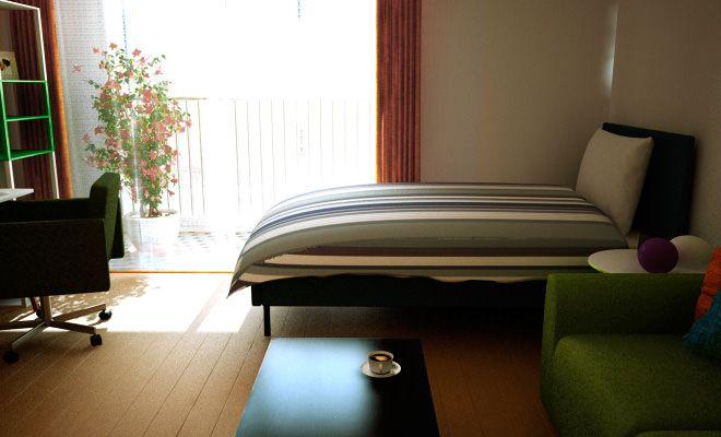 9畳10畳1kで快適レイアウト作ったよベッドにソファも配置して