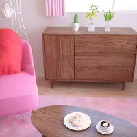 茶色×ピンクのインテリアで作るキュートでガーリーなワンルーム