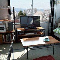 6畳和室アパートのレイアウト例を御覧じろ!無骨なビンテージ家具でまとめてみた