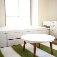 8畳ワンルームで二人暮らし!ダブルベッド&ドレッサーを配置した同棲用のインテリア